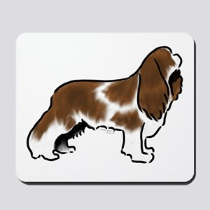 cavalier king charles spaniel red white Mousepad