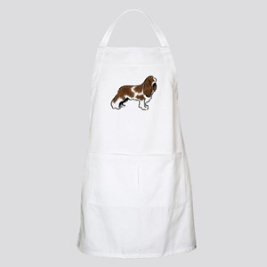 cavalier king charles spaniel red white Apron