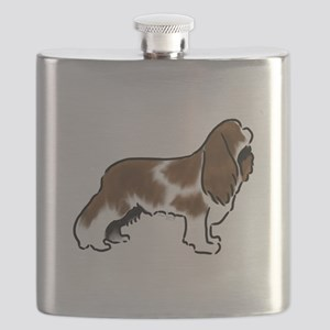 cavalier king charles spaniel red white Flask
