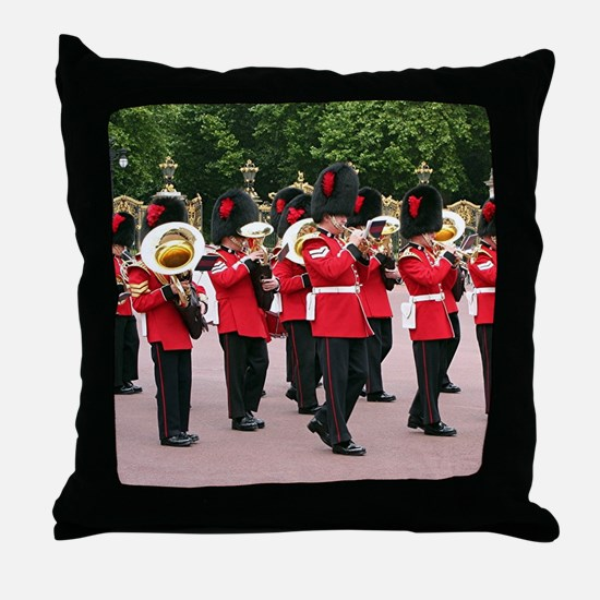 Guards Band, Buckingham Palace, Londo Throw Pillow