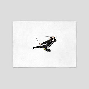 Ninja kick 5'x7'Area Rug
