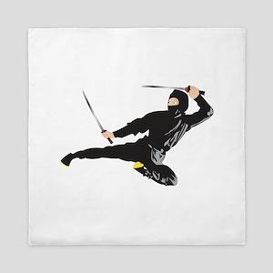 Ninja kick Queen Duvet
