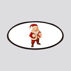 santa claus with wind up Patches