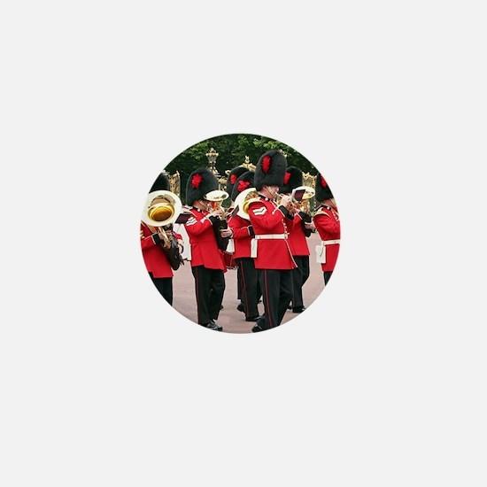 Guards Band, Buckingham Palace, London Mini Button