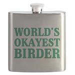 World's Okayest Birder Flask