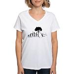 Zipline Evolution Women's V-Neck T-Shirt