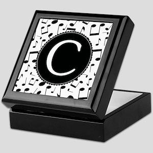Music Monogram C Keepsake Box