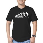 Zombie Evolution Men's Fitted T-Shirt (dark)