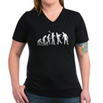 Zombie Evolution Women's V-Neck Dark T-Shirt
