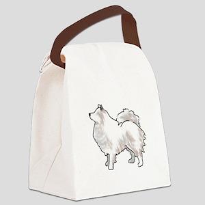 american eskimo Canvas Lunch Bag