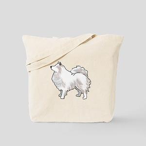 american eskimo Tote Bag
