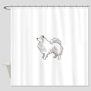 american eskimo Shower Curtain