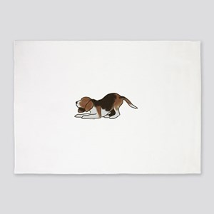 beagle playing 5'x7'Area Rug
