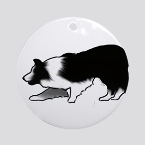 border collie Ornament (Round)
