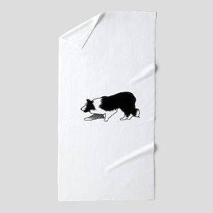 border collie Beach Towel