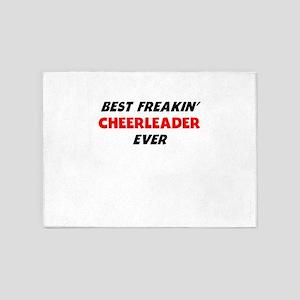 Best Freakin Cheerleader Ever 5'x7'Area Rug