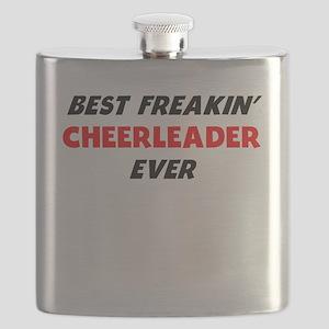 Best Freakin Cheerleader Ever Flask