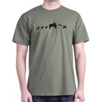 Skateboard Cats Evolution Dark T-Shirt
