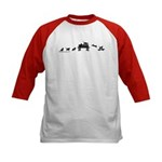 Skateboard Cats Evolution Kids Baseball Jersey