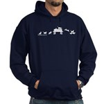 Skateboard Cats Evolution Hoodie (dark)
