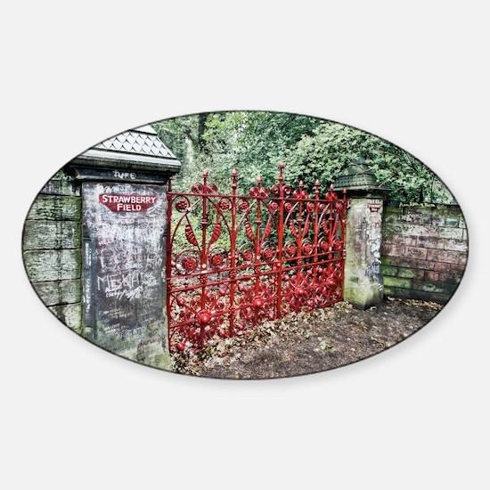 Strawberry Fields Sticker (Oval)