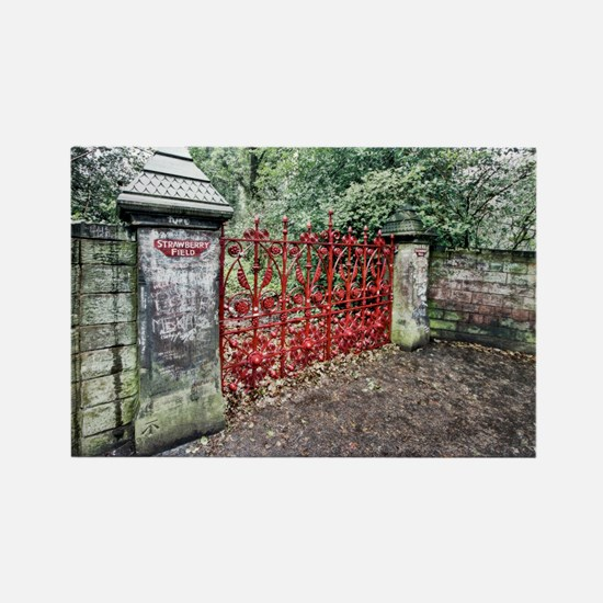 Strawberry Fields Rectangle Magnet