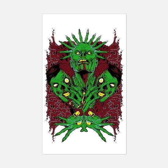 Metal Artworks Design #2 Sticker (Rectangle)