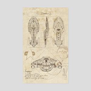 Da Vinci Voyager Sticker (Rectangle)