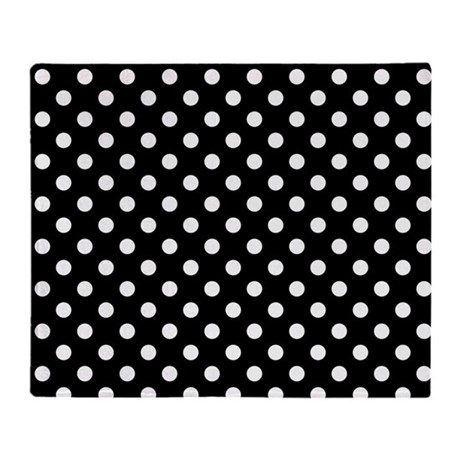 black and white polka dot throw blanket by cutetoboot. Black Bedroom Furniture Sets. Home Design Ideas