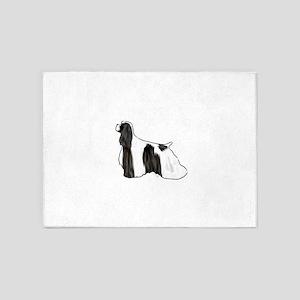 black and white american cocker spaniel 5'x7'Area