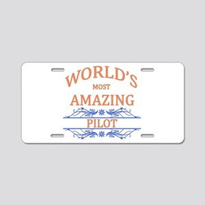 Pilot Aluminum License Plate