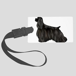 black american cocker spaniel Luggage Tag