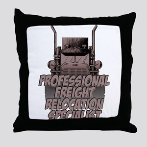 Professional Freight Relocation Spec Throw Pillow