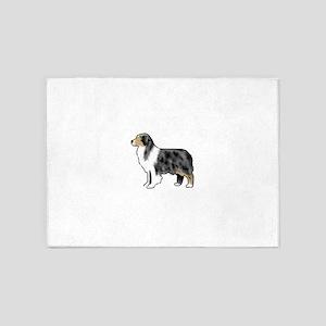australian shepherd 5'x7'Area Rug