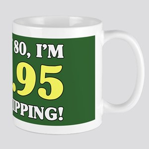 80th Birthday Gag Mugs