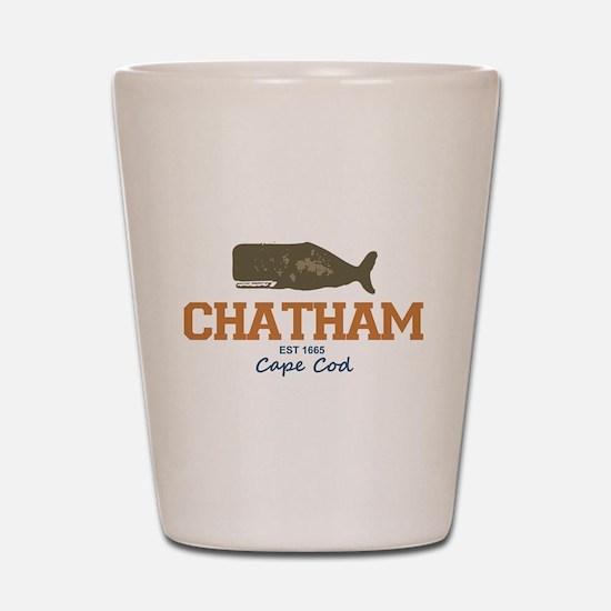 Chatham. Cape Cod. Whale Design. Shot Glass