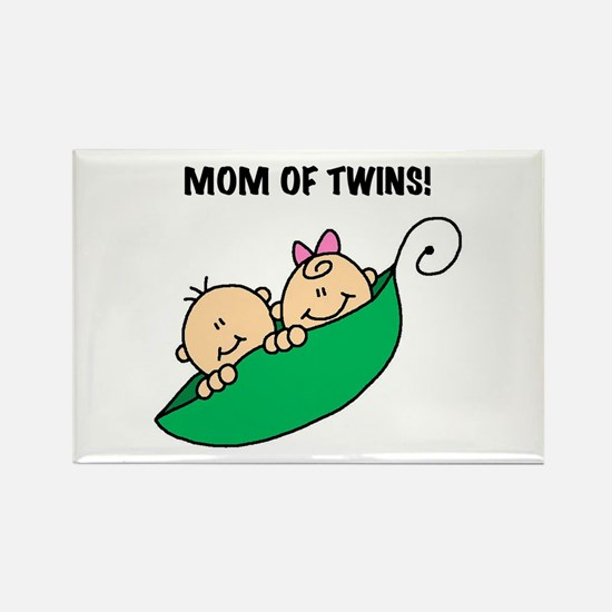 Mom of Twins Rectangle Magnet