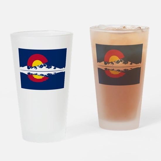 Colorado Flag - Long's Peak Drinking Glass