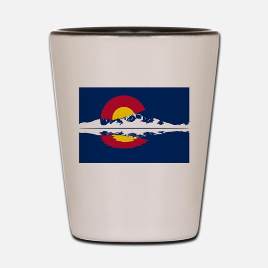 Colorado Flag - Long's Peak Shot Glass