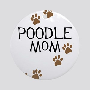 Poodle Mom Ornament (Round)