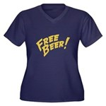 Free Beer Plus Size T-Shirt