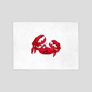 Crab Smiling 5'x7'Area Rug