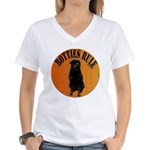 Rotties Bring It & Rule Women's V-Neck T-Shirt