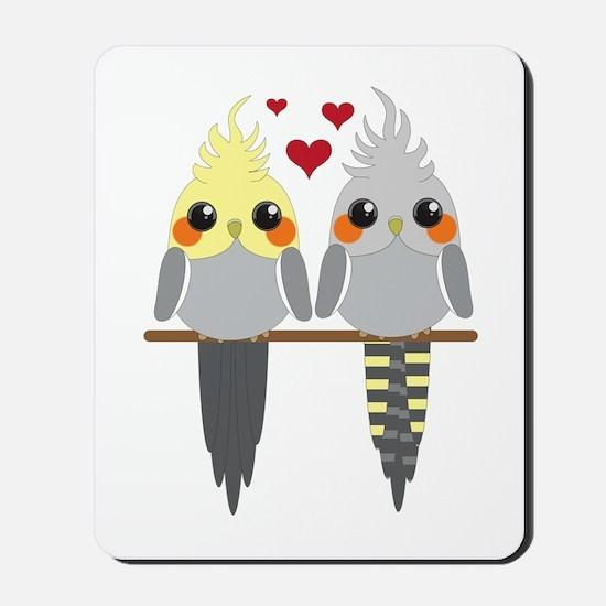 Cockatiels in Love Mousepad
