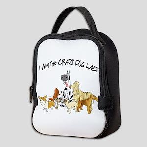 Crazy Dog Lady Neoprene Lunch Bag