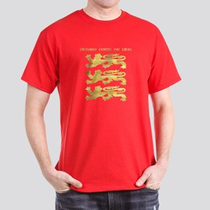 Richard I Arms And Title In Flat Gold T-Shirt