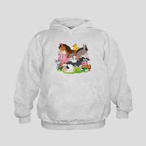 Cartoon Farm Animals Kids Hoodie