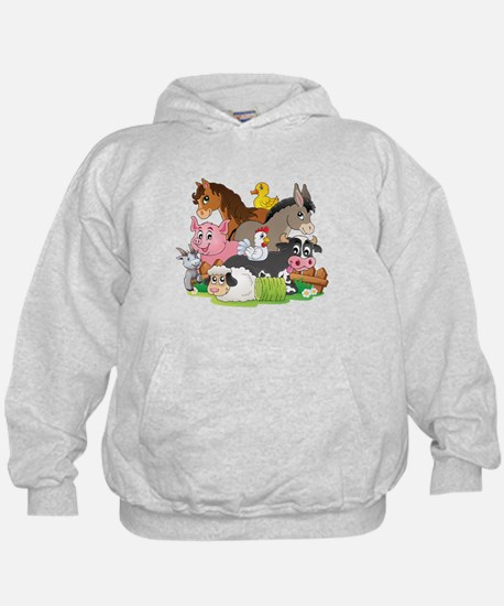 Cartoon Farm Animals Hoodie