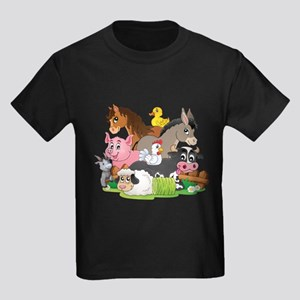 Cartoon Farm Animals T-Shirt