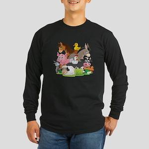 Cartoon Farm Animals Long Sleeve T-Shirt